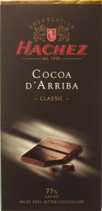 Hachez-Chocolade, 77%, Ecuador, Arriba-Kakao