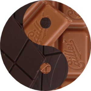 Helle und Dunkle Schokolade: wie Ying und Yang