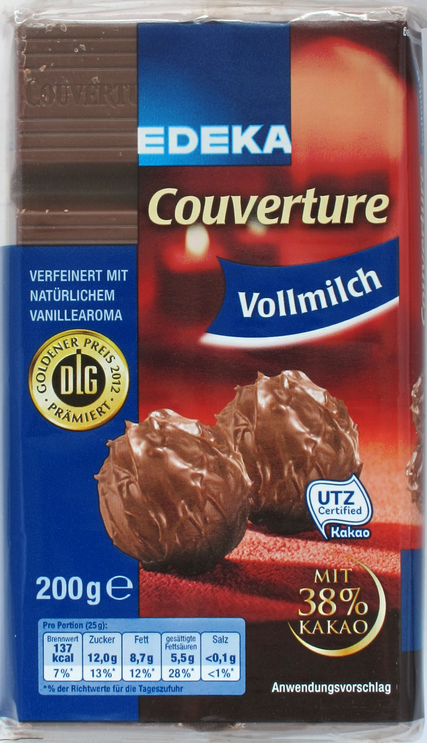 EDEKA-Vollmilchkuvertüre