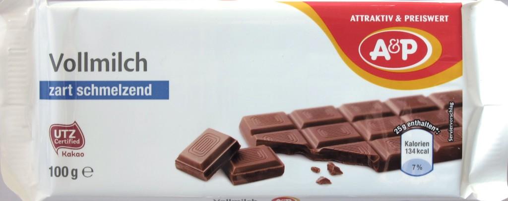 Tengelmann/Kaisers/A&P Vollmilchschokolade