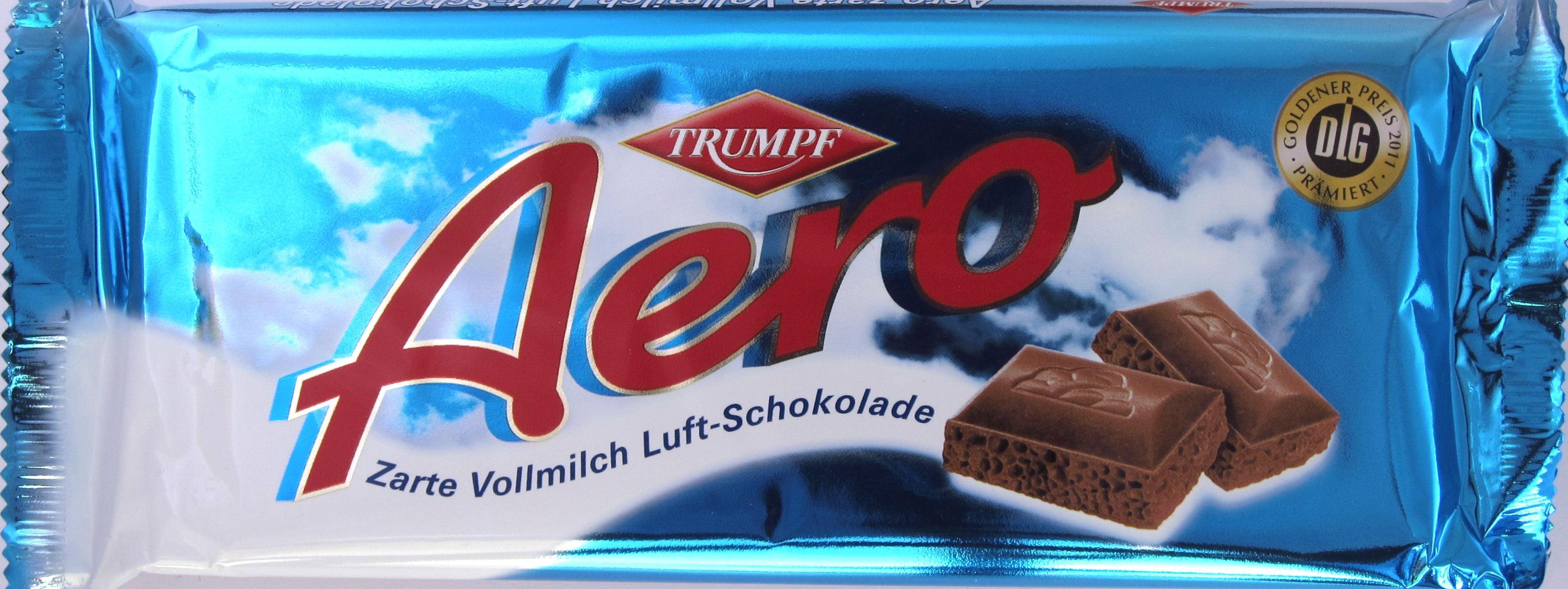 Vorderseite Trumpf Aero Vollmilch