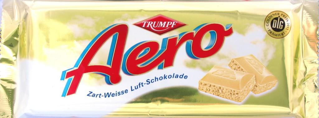 Vorderseite Aero Zart-Weisse Schokolade