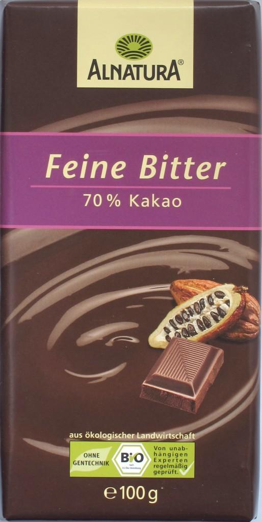 Packung, Alnatura, 70%-Schokolade