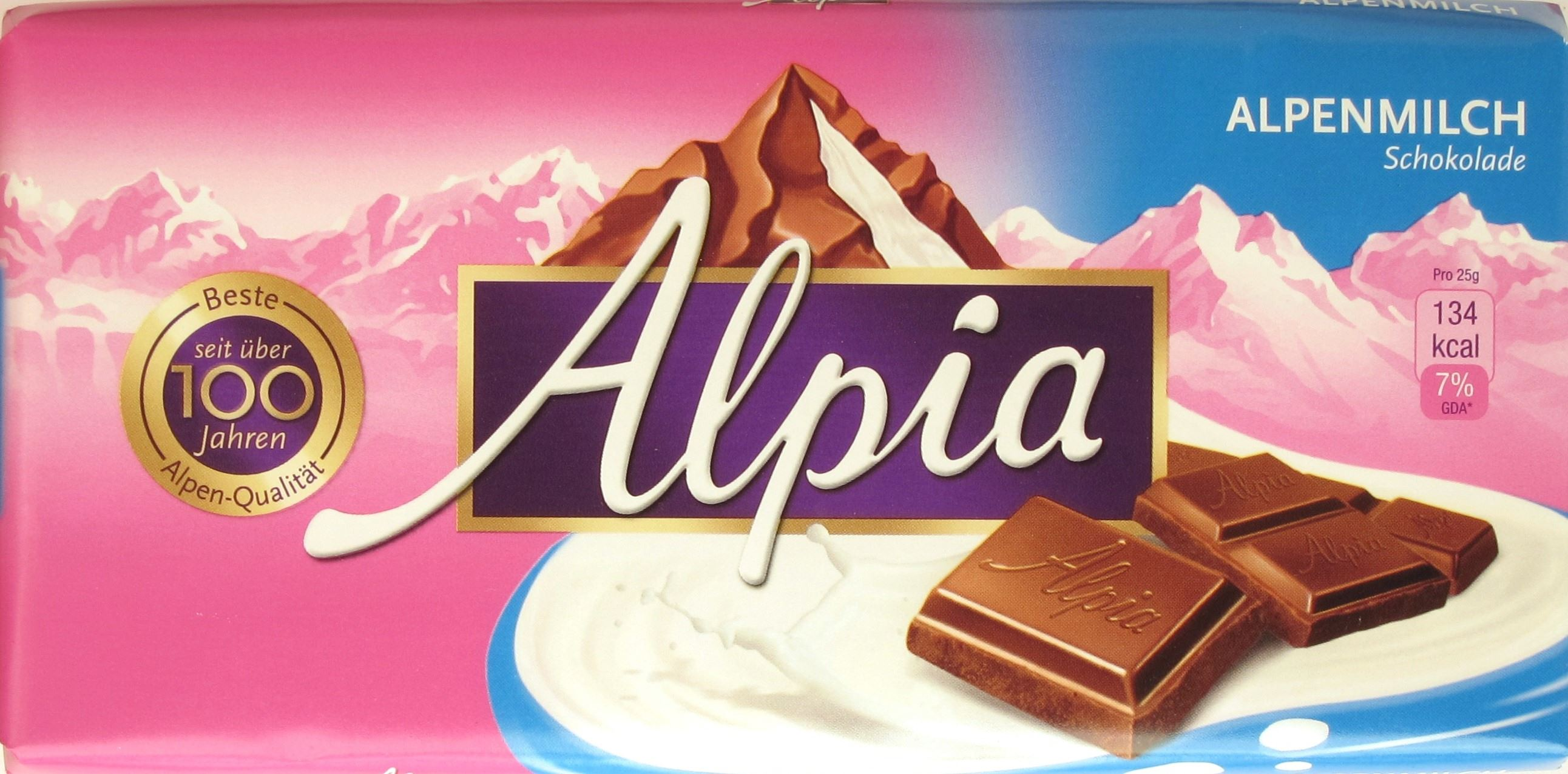 Alpia Alpenmilchschokolade (Stollwerck)