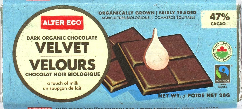 Vorderseite: Alter Eco Milchschokolade 47%