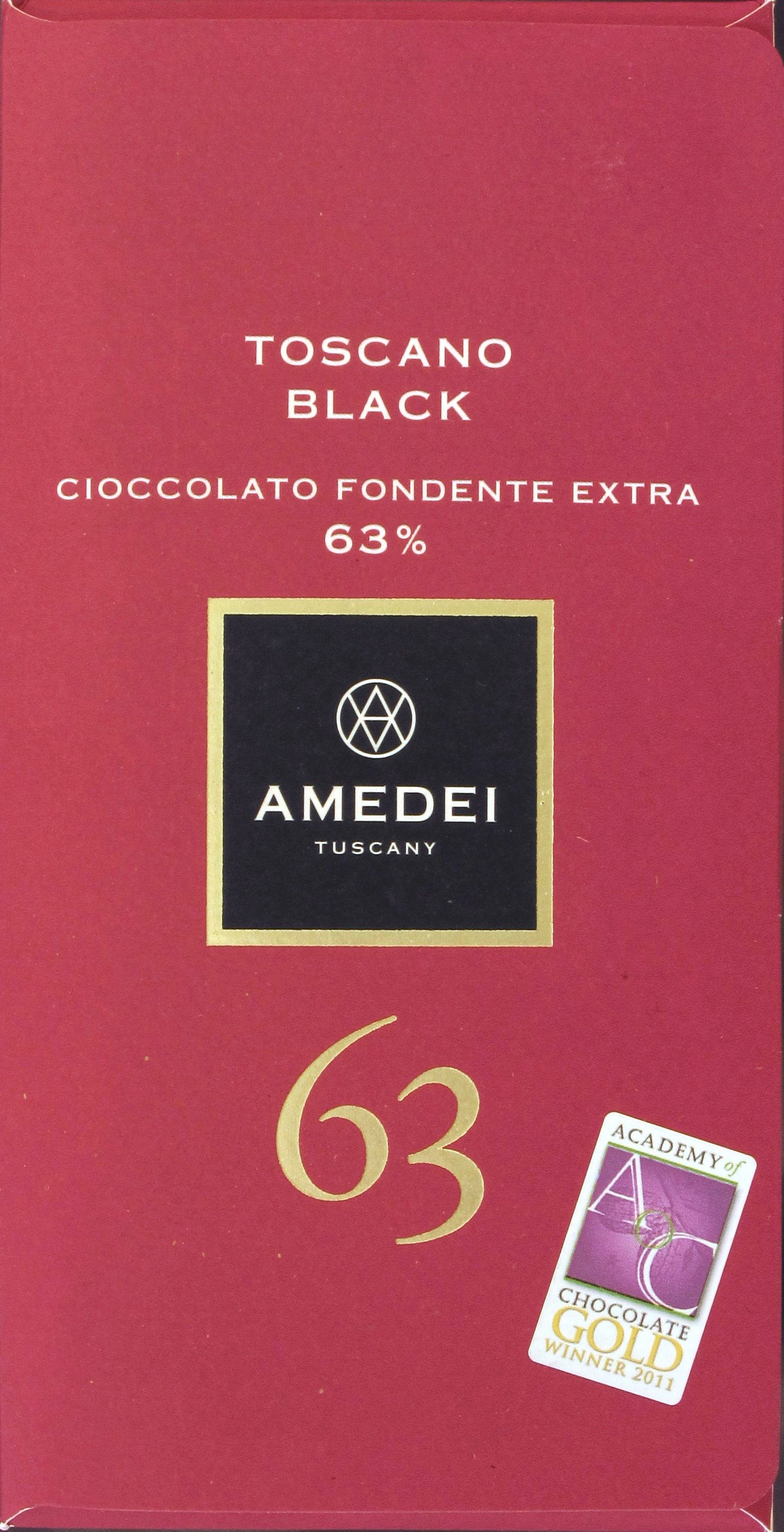 Amedei Toscano Black 63% - Packung