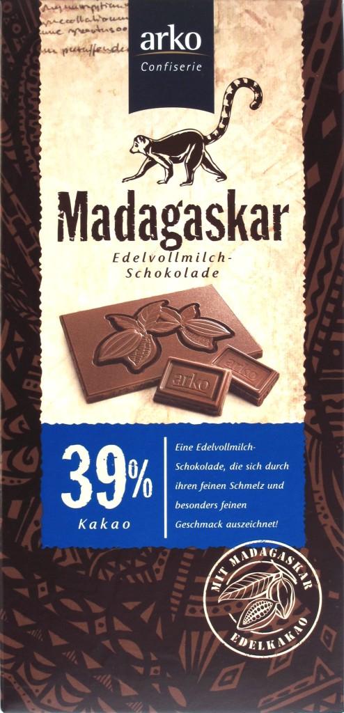Arko, Madagaskar, 39%, Milchschokolade