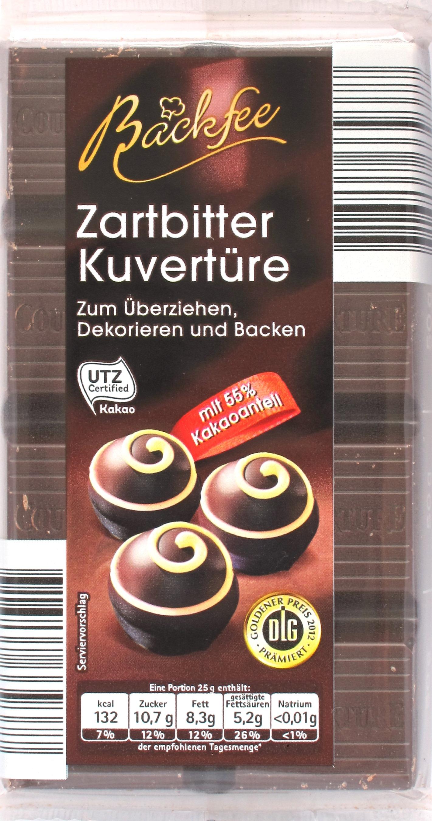 Cover: Backfee Zartbitter Kuvertüre