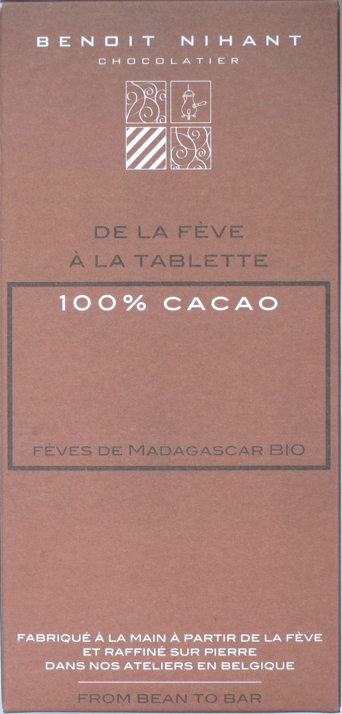 100%-Bitterschokolade von Benoit Nihant