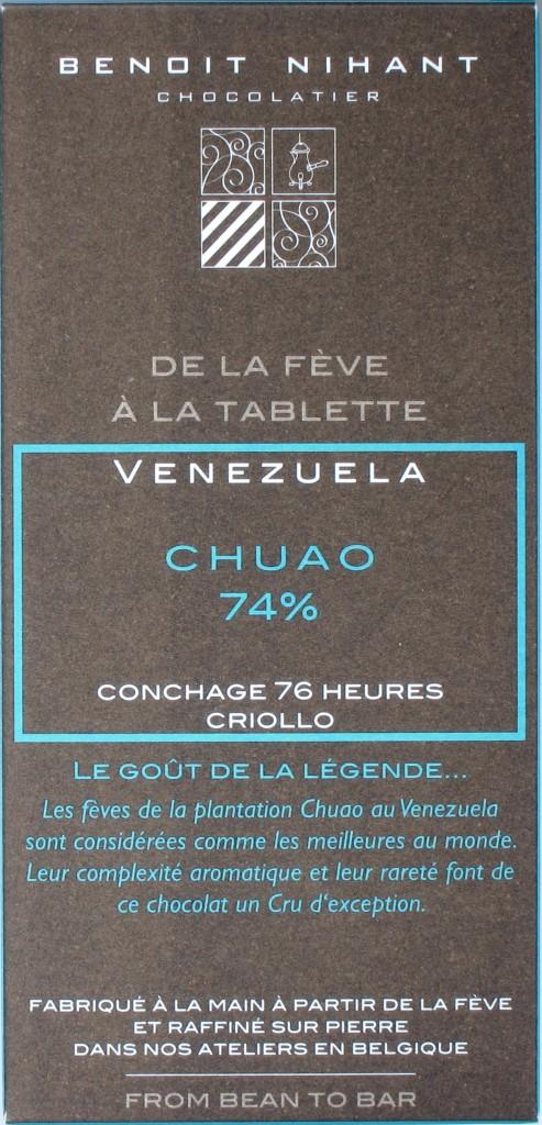 Benoit Nihant Bitterschokolade Chuao 74%