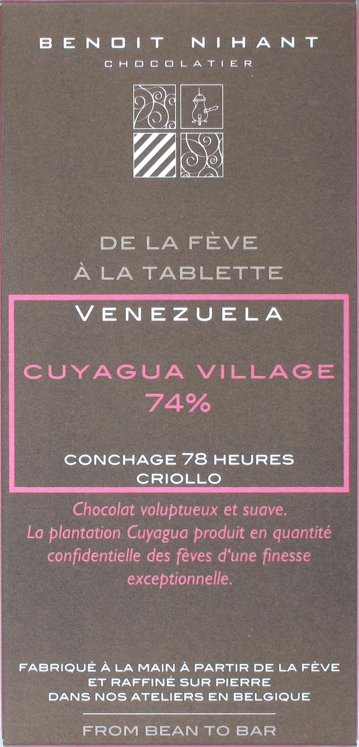 "Benoit Nihant 74%-Schokolade ""Cuyagua Village"""