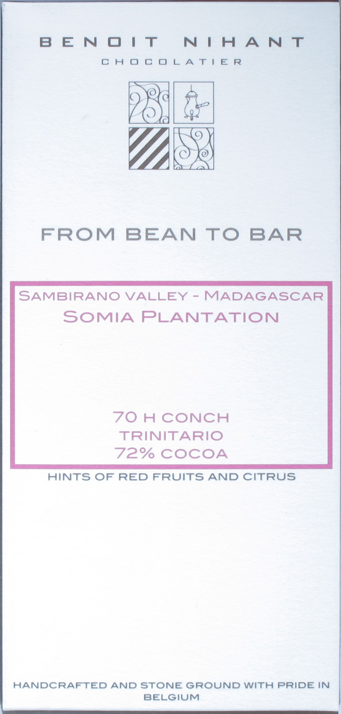 Benoit Nihant, Somia Plantation 72%, Dunkle Schokolade