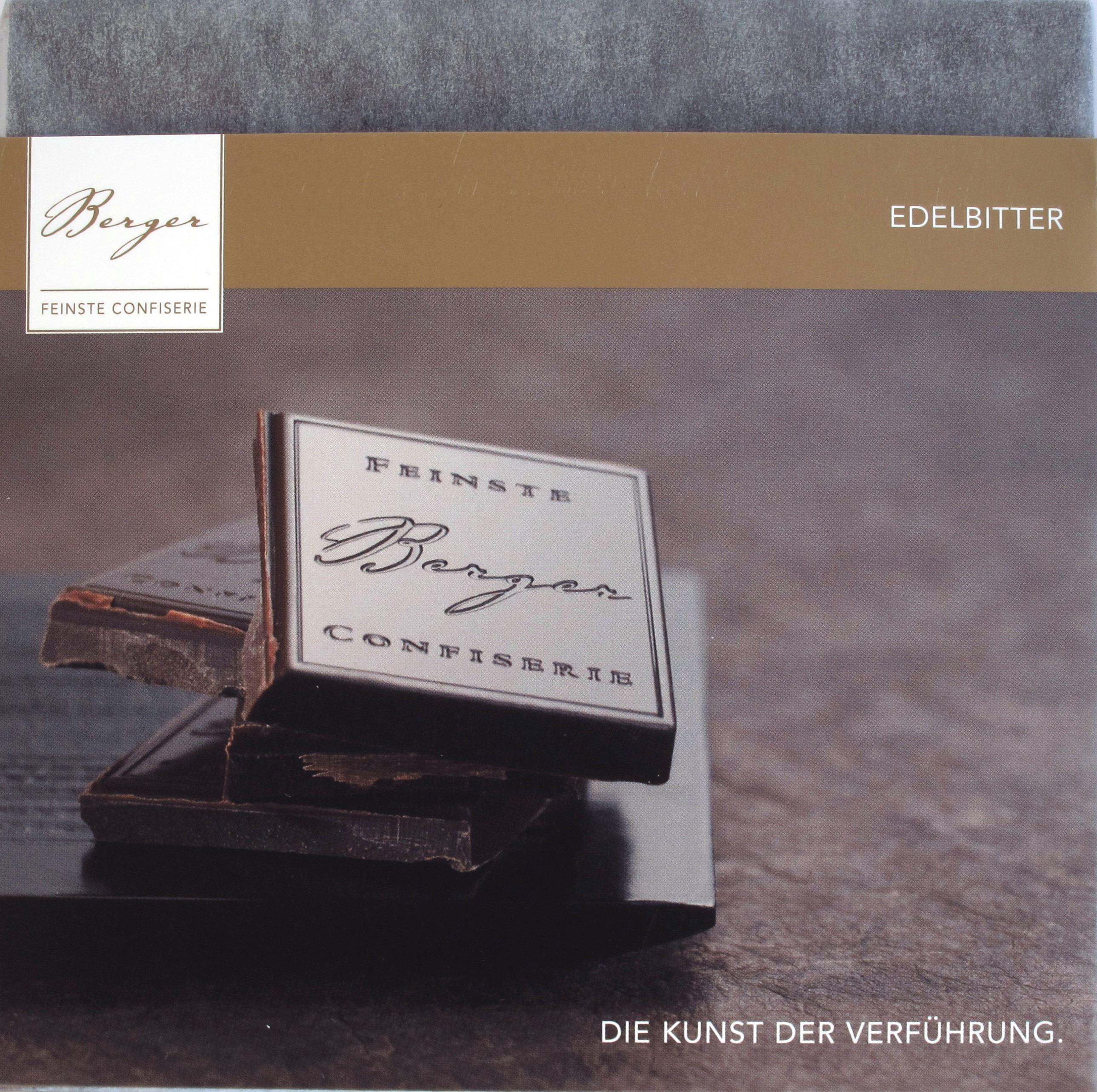 """Berger-Schokolade """"Edelbitter 70%"""" (Vorderseite)"""