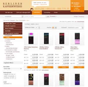 Website der Berliner Kaffeerösterei