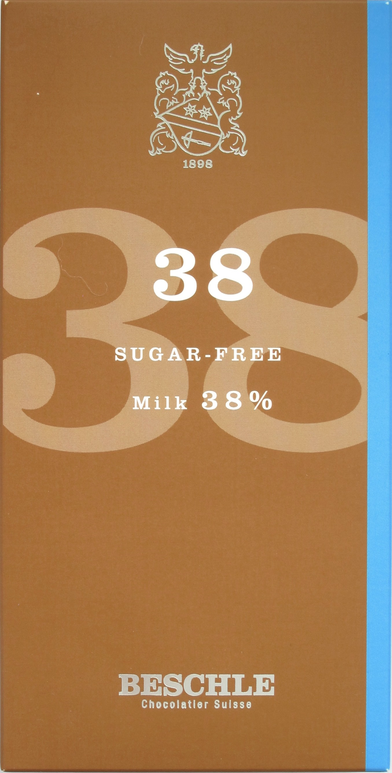 Beschle-Schokolade 38% Milch Zuckerfrei