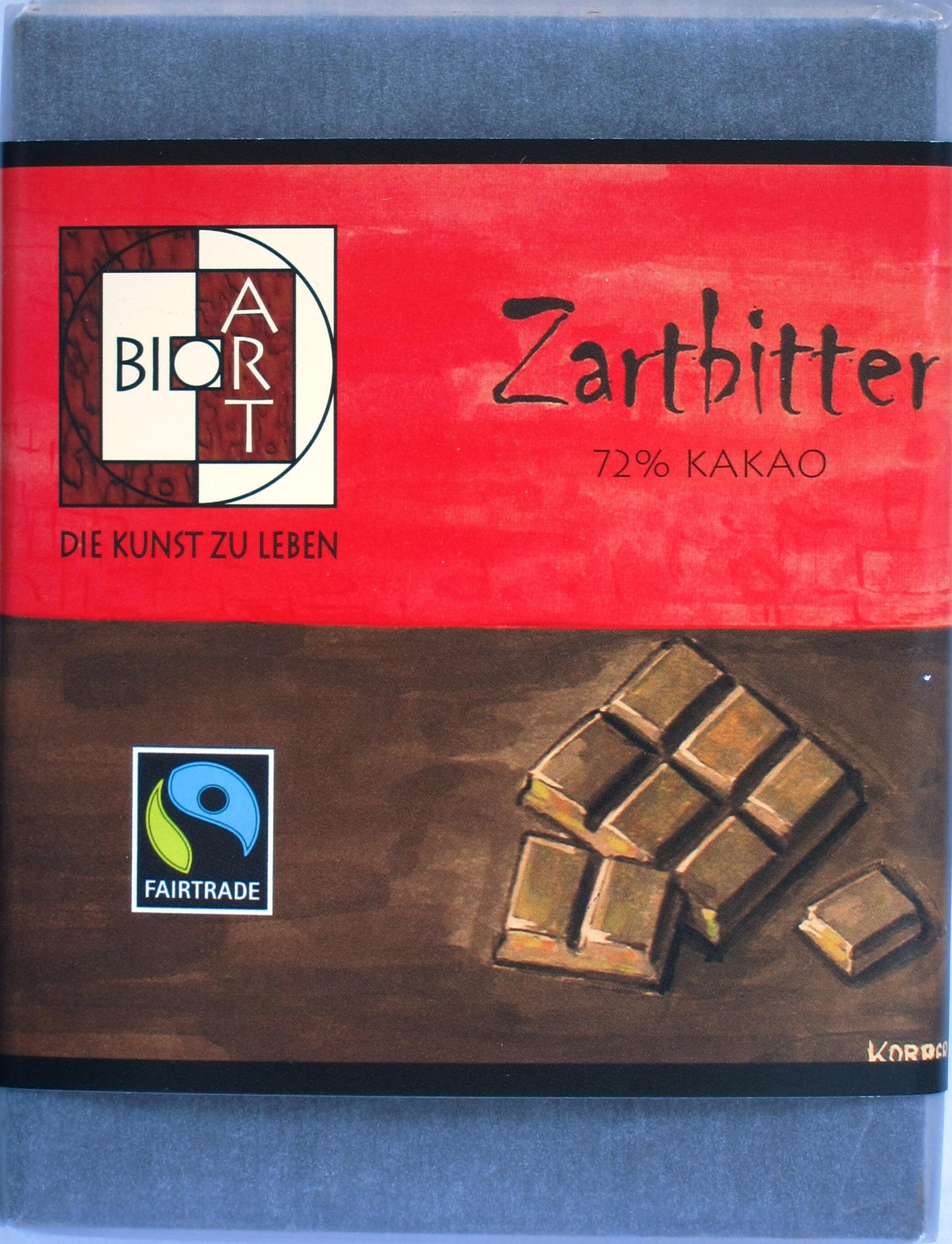 BioArt 72% Bitterschokolade