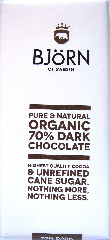 Björn of Sweden 70% Bitterschokolade