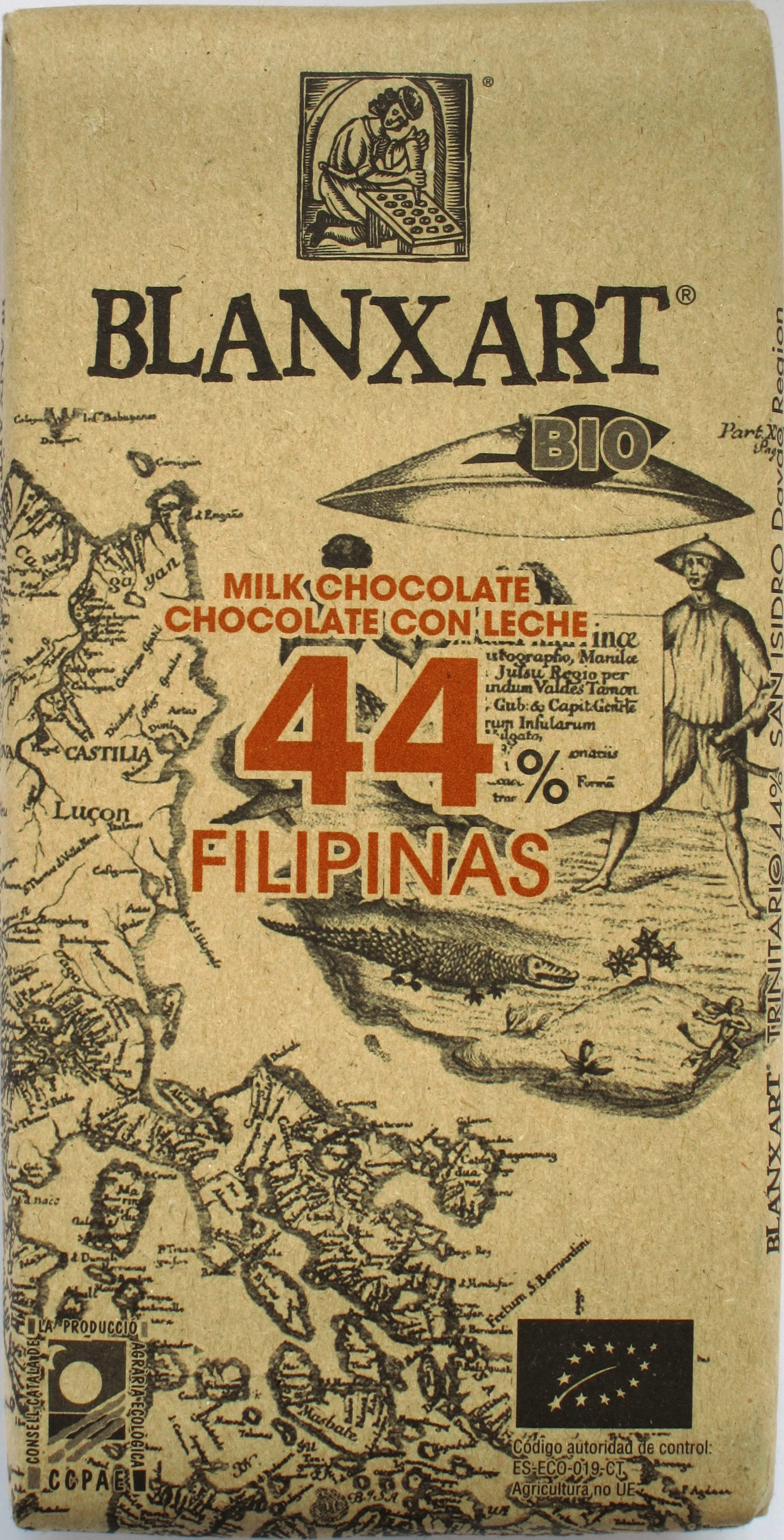 Vorderseite: Blanxart-Milchschokolade 44% Philippinen