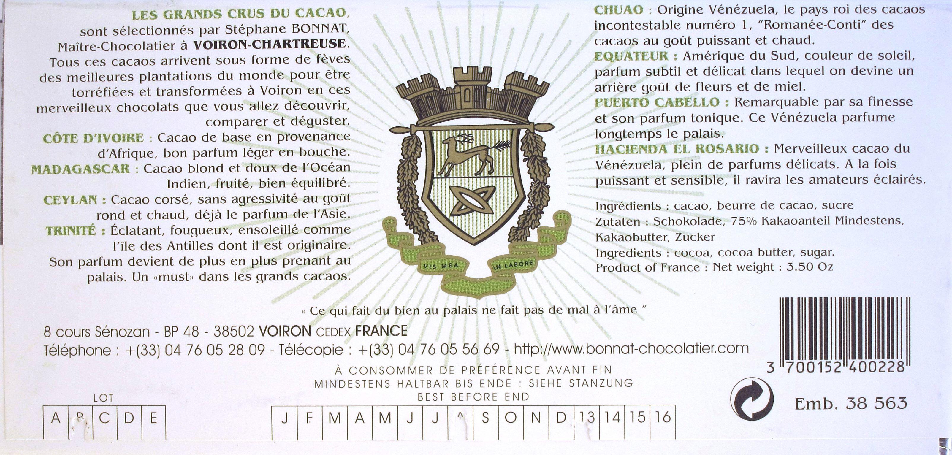 Rückseite: Venezuela-Bonnat