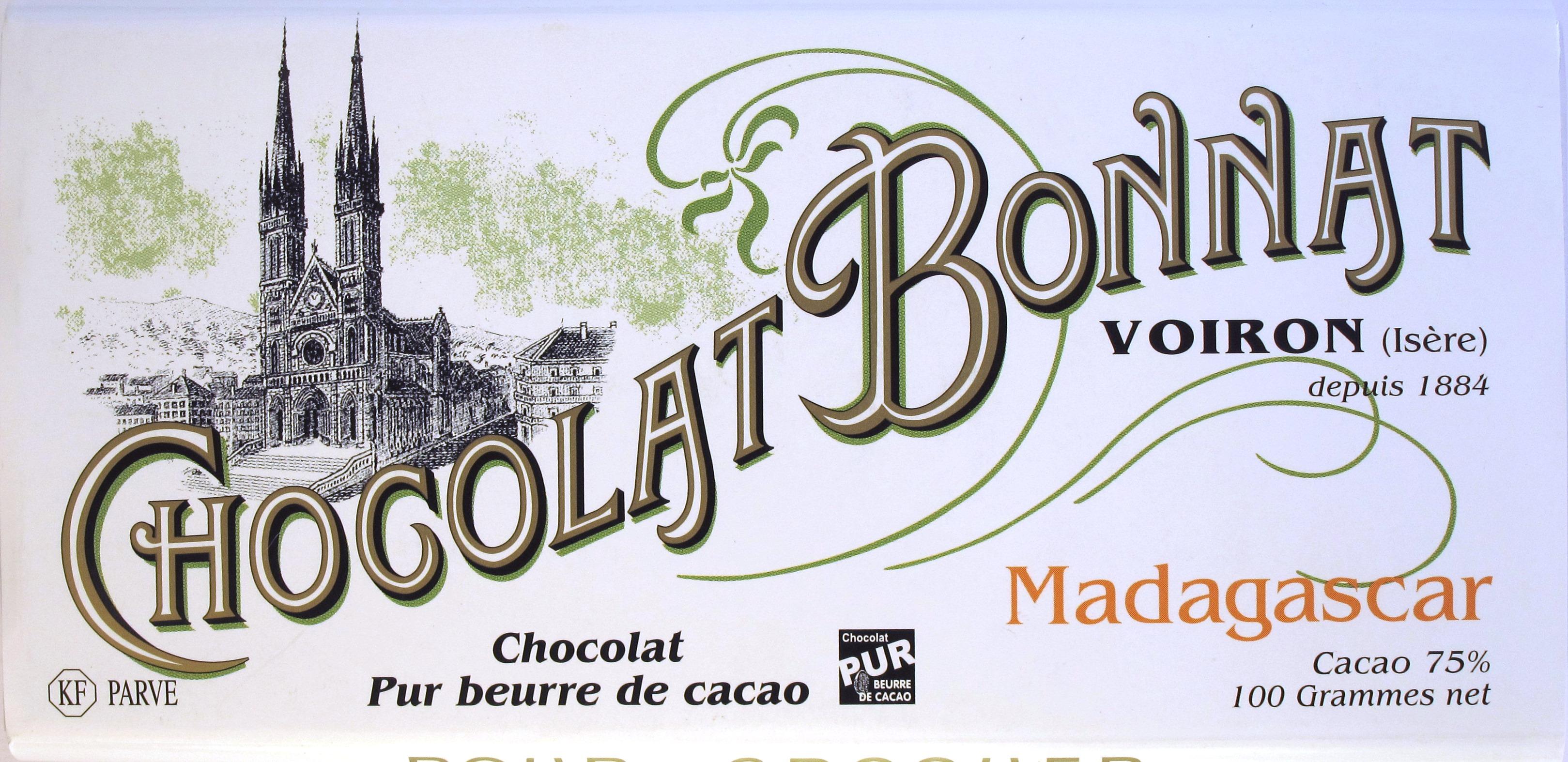 Bonnat-Schokoladentafel 75% Madagaskar