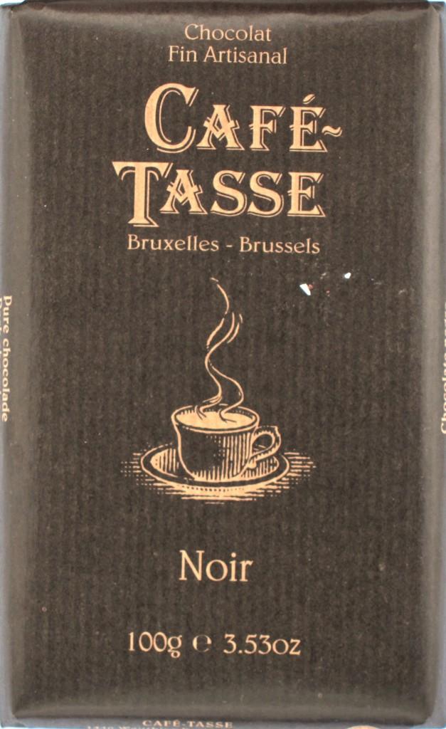 """Belgische Bitterschokolade Café-Tasse """"Noir"""" (57%)"""