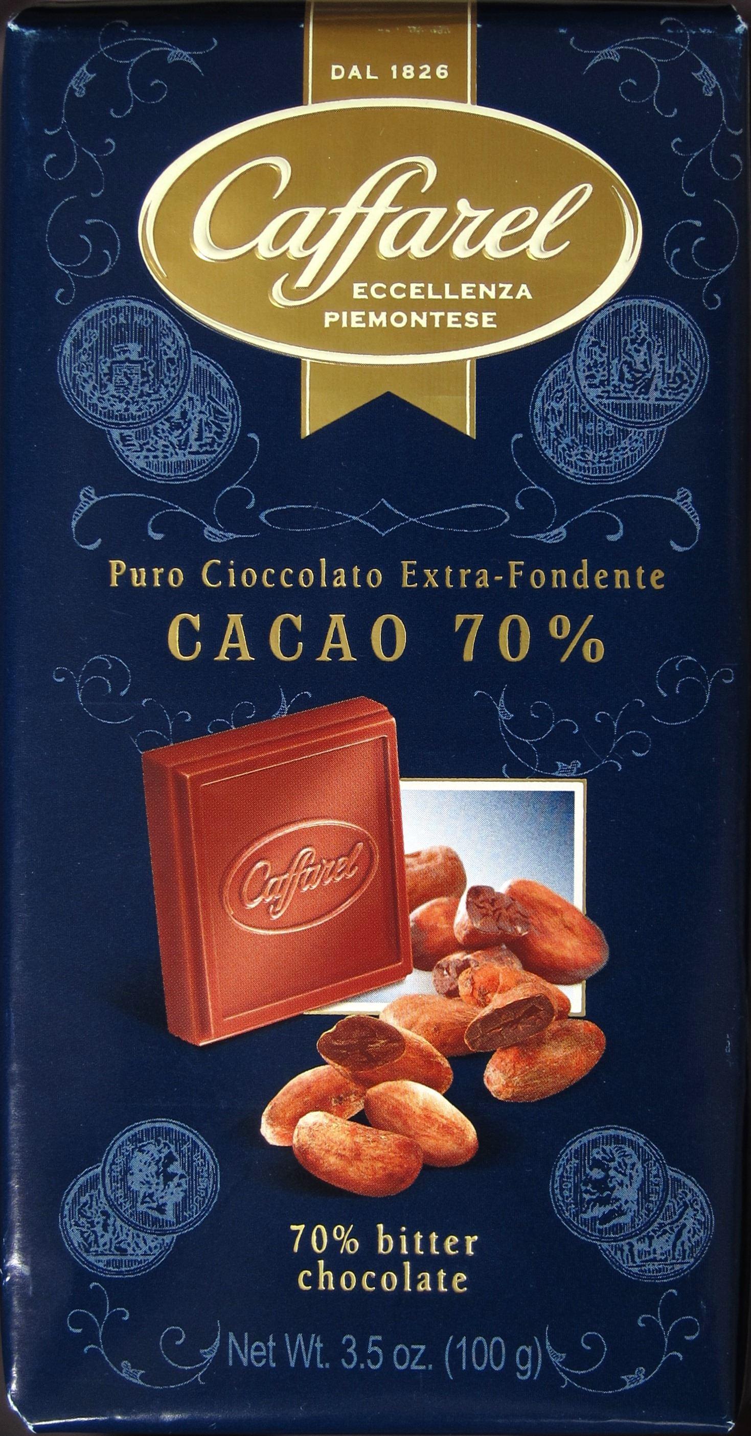 Caffarel Puro Cioccolat Extra-Fondente Cacao 70%