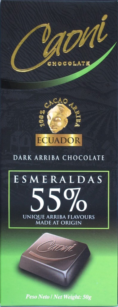 Caoni-Bitterschokolade Esmeraldas 55%
