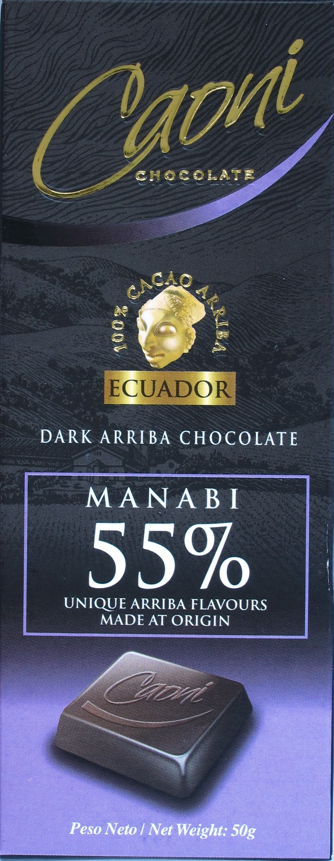 Caoni Manabi 55%, Vorderseite