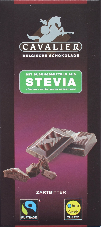 Cavalier Stevia-Schokolade Zartbitter