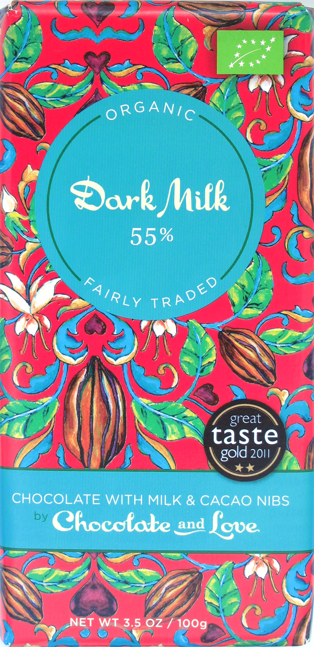 Chocolate & Love Dunkle Milchschokolade mit Nibs