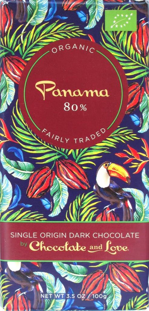 Chocolate and Love 80% Panama-Bitterschokolade