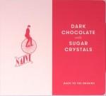 """Umschlag der litauischen Schokoladenspezialität """"Chocolate Naive Dark Chocolate with Sugar Crystals"""""""