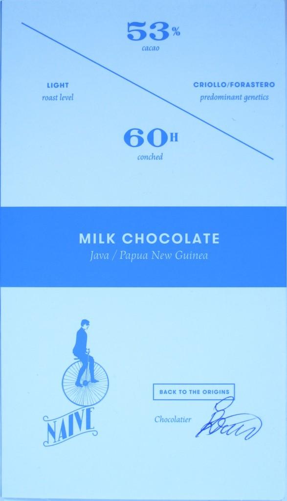 Chocolate Naive-Milchschokolade 53%