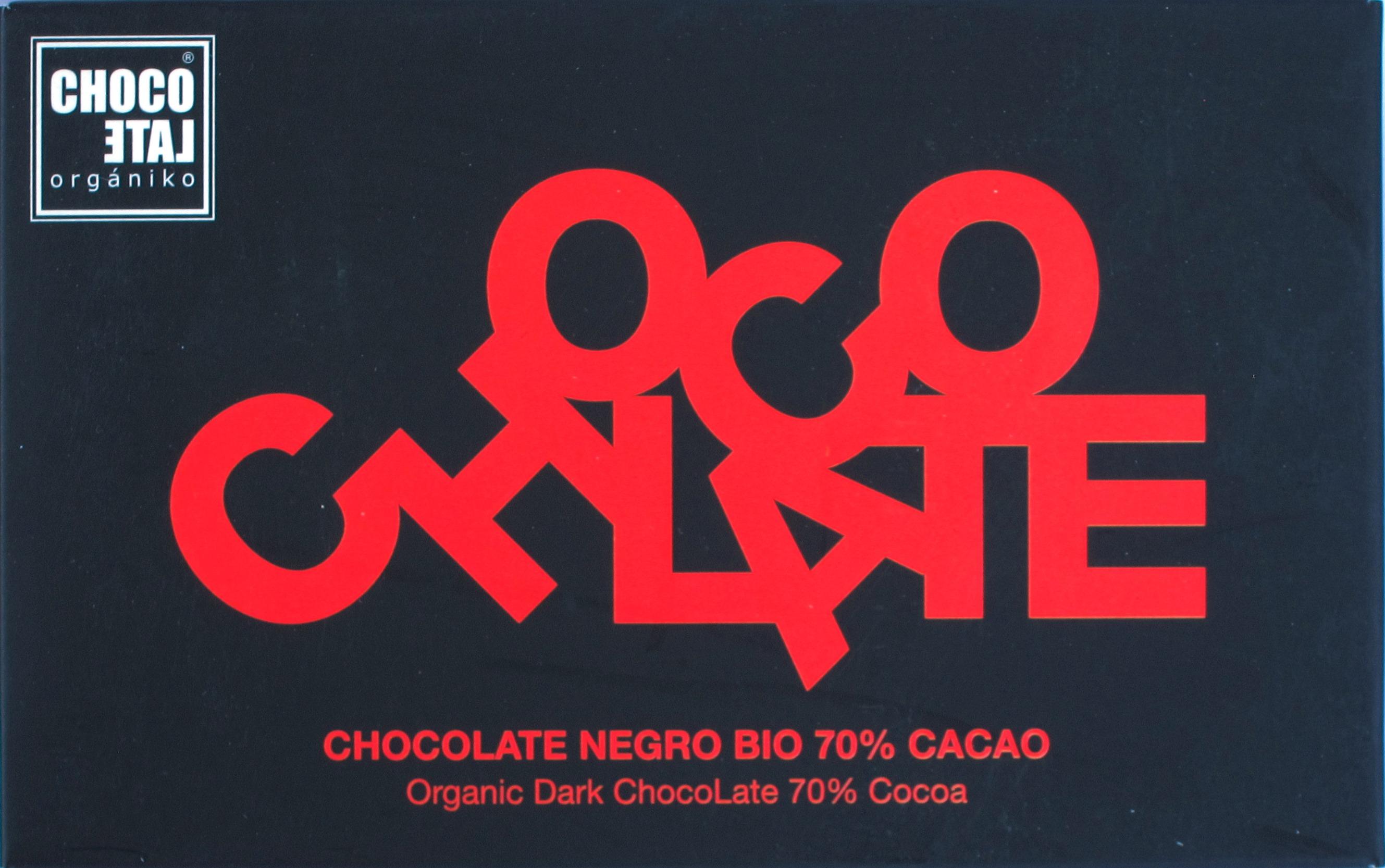 Chocolate Organiko 70%, Vorderseite