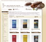 Screenshot Chocolats de Luxe-Website