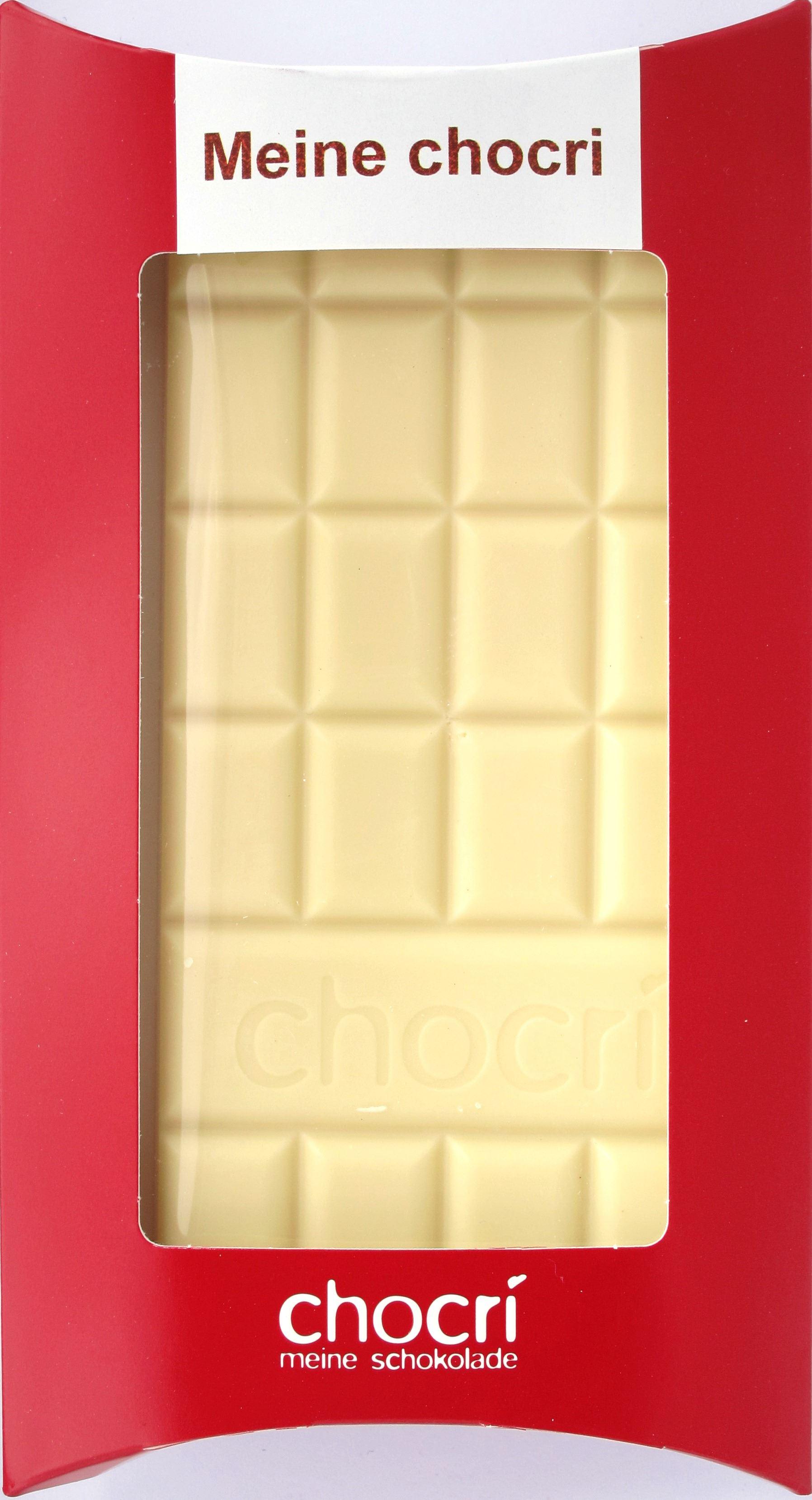 Chocri: individualisierbare weiße Schokolade