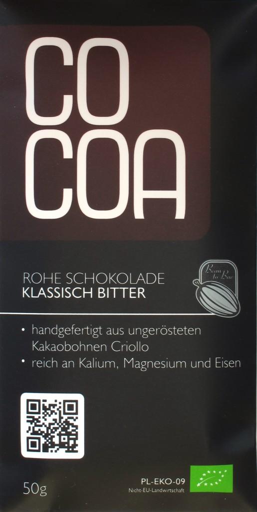 """Cocoa-Schokoladentafel """"klassisch bitter"""""""