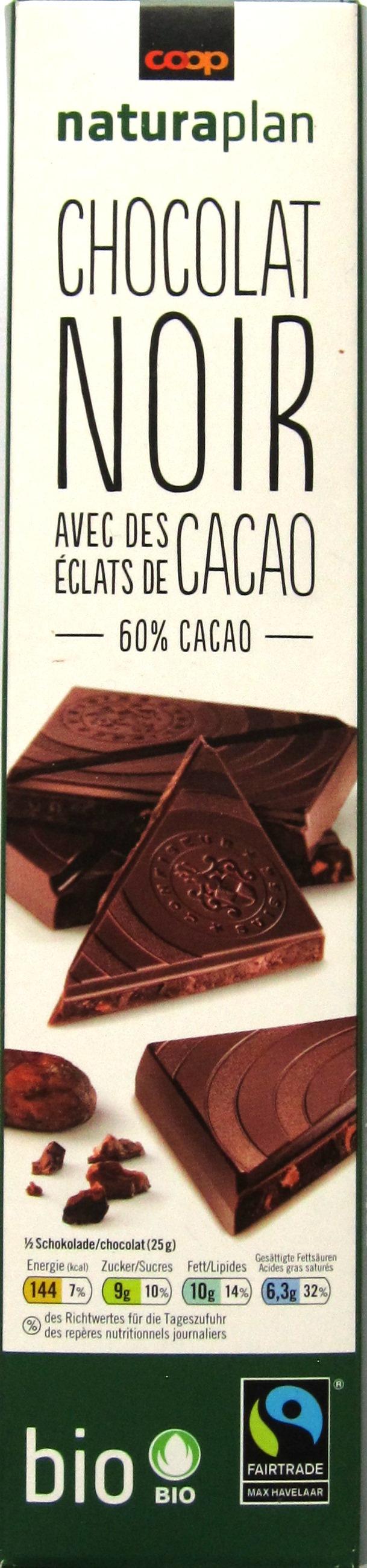 Vorderseite: Coop Naturaplan Bio Dunkle Schokolade 60%
