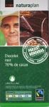 Coop Fairtrade-Bio-70%-Schokolade: Vorderseite