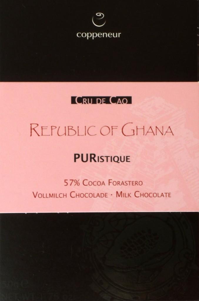 Coppeneur Ghana Milchschokolade von vorne