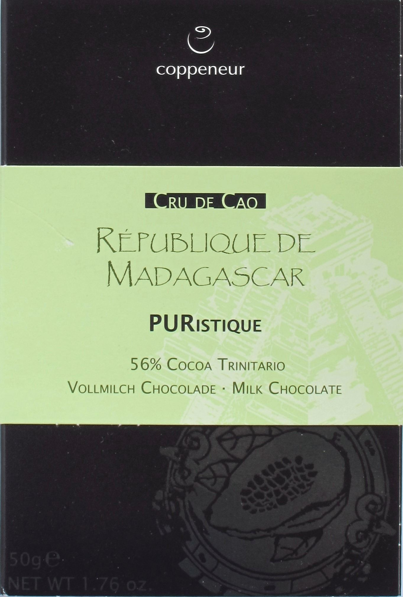 Coppeneur Madagaskar, 56% Milchschokolade, Vorderseite