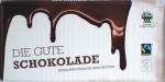 """Vorderseite einer Tafel """"Die Gute Schokolade"""""""