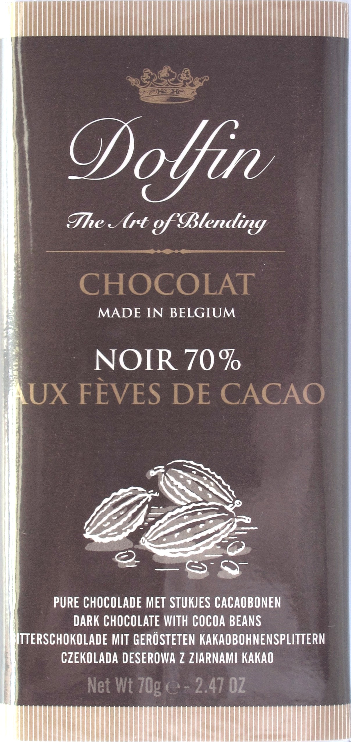 Schokolade Dolfin Noir 70%