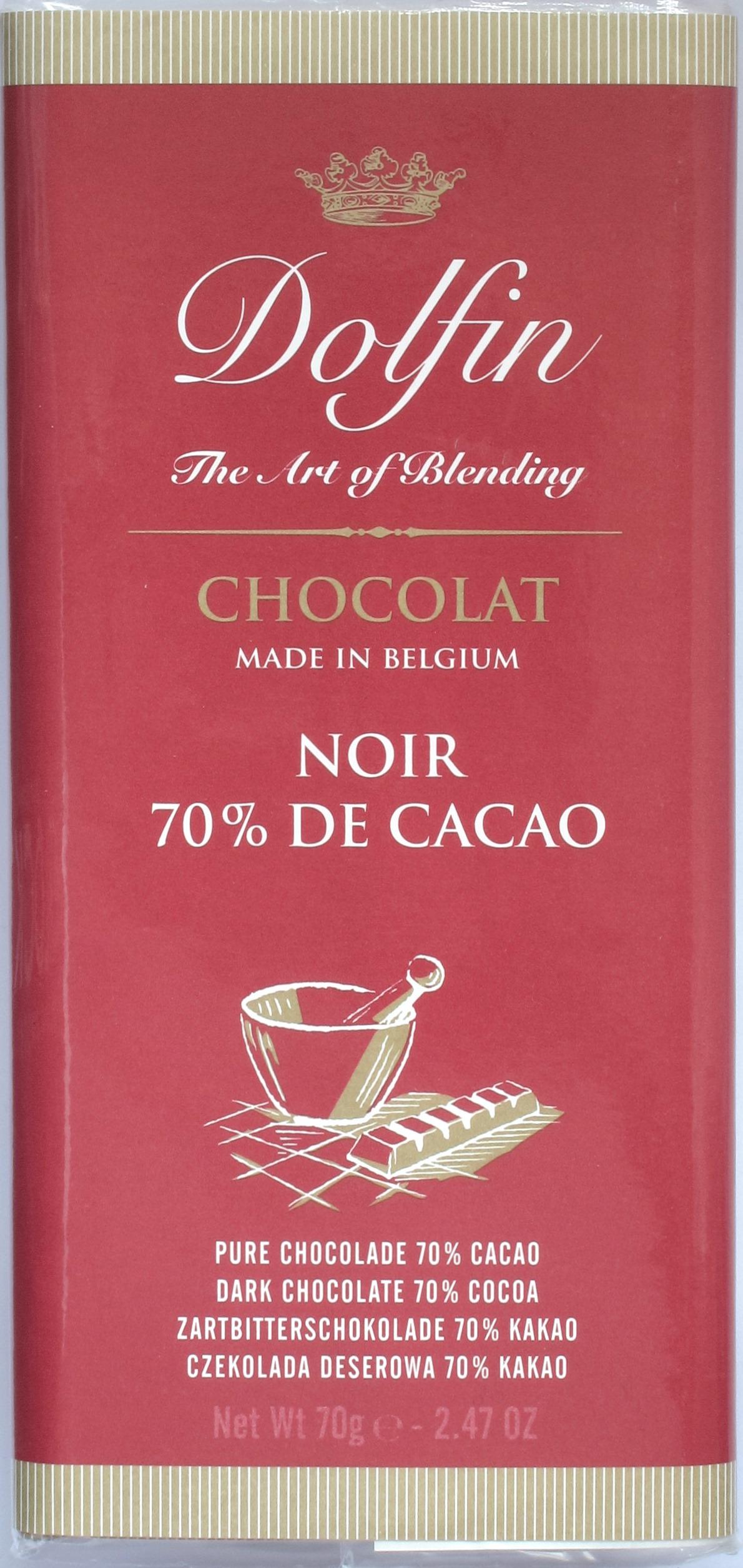 Vorderseite Dolfin Noir 70% de Cacao