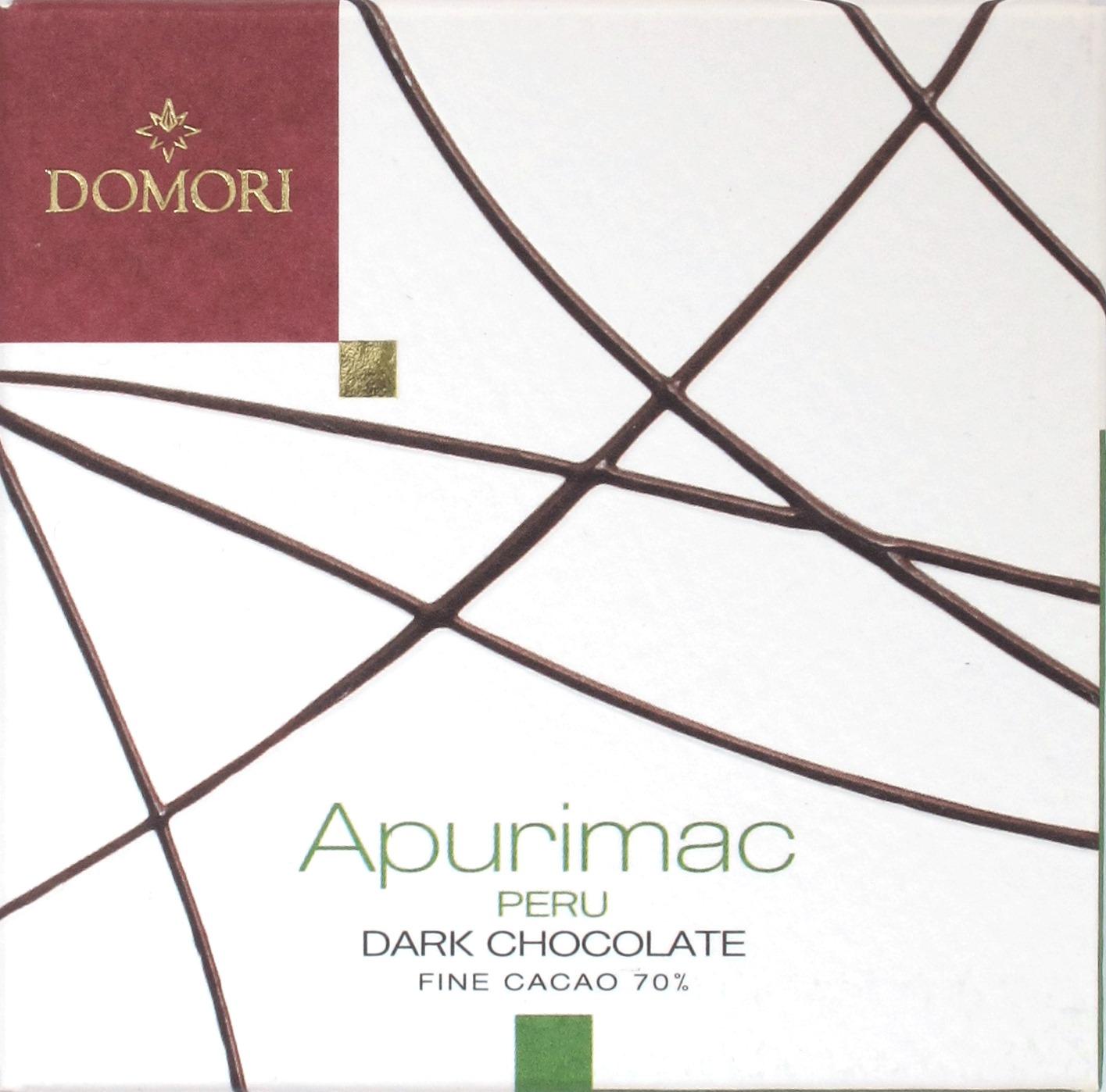 'Apurimac' - Domori Bitterschokolade - Vorderseite