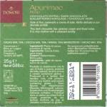 'Apurimac' - Domori Bitterschokolade - Rückseite