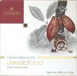 Domori 70%-Java-Schokolade, Vorderseite