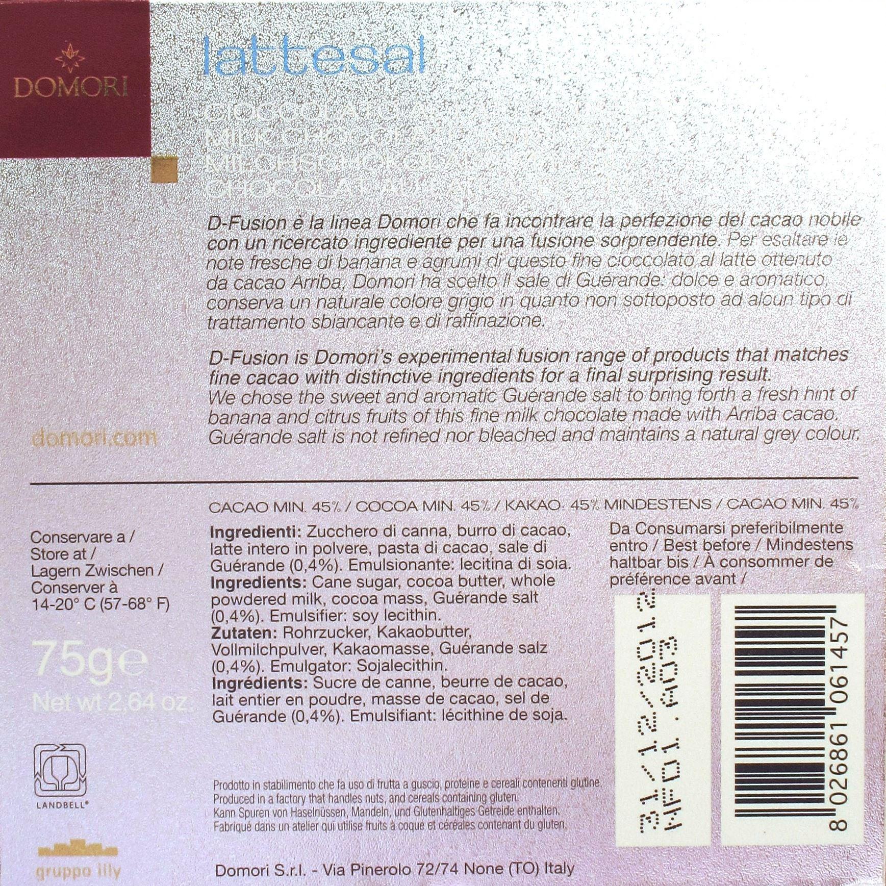 Domori D-Fusion Lattesal: Back