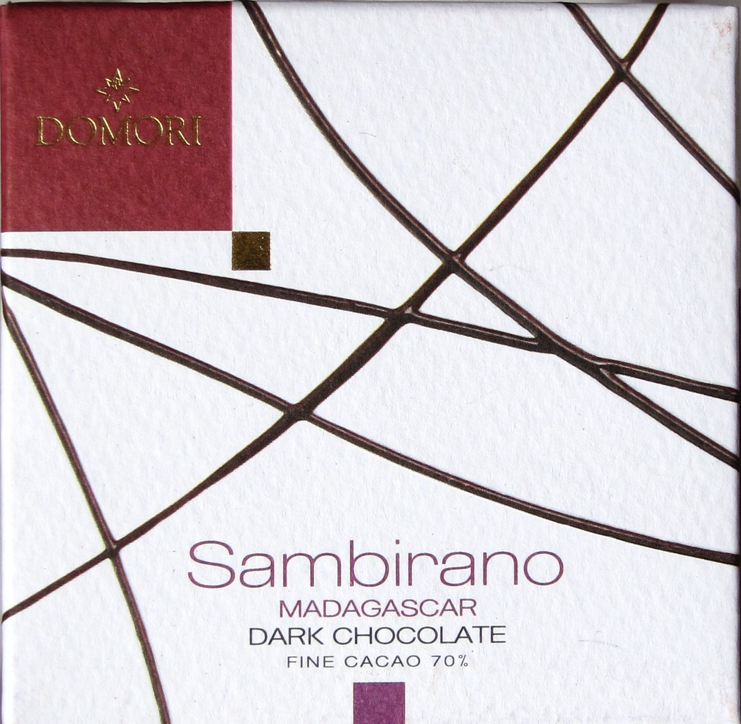 Domori Sambirano: Madagaskar-Bitterschokolade