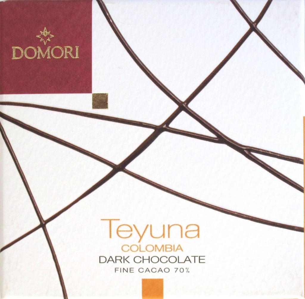 """Domori Kolumbien-Bitterschokolade """"Teyuna"""""""